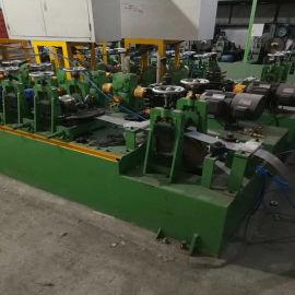 二手不锈钢工业管焊管机械 高质量二手圆管变方管成型制管机设备