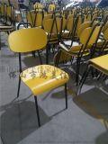 廠家批發防火板可疊放四腳靠背木板學生椅子批量生產