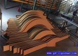 造型铝方通 外墙铝格栅 木纹弧形铝板