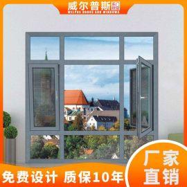 封阳台落地窗 铝合金90断桥纱窗一体平开窗1.4