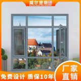 封陽臺落地窗 鋁合金90斷橋紗窗一體平開窗1.4