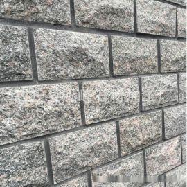 厂家直销天然花岗岩牡丹红蘑菇石 文化石外墙砖 规格齐全尺寸标准