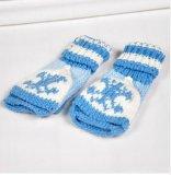新款雪花翻蓋針織兩用手套 款式新穎
