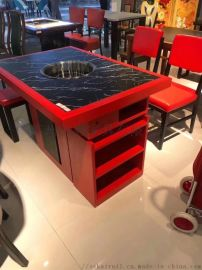 苏州火锅桌椅厂家|火锅餐厅家具|大理石火锅桌