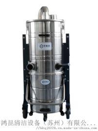 大功率三相电4KW工业吸尘器, 大型五金厂吸铁屑380v吸尘器