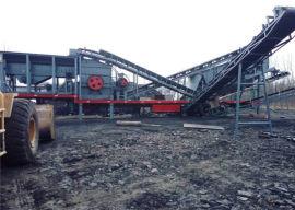 可移动环保破碎机 大型轮胎式移动破碎站 河南友邦