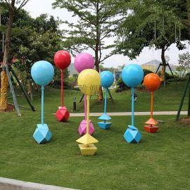 商城大型气球摆件仿真棒棒糖玻璃钢雕塑定制