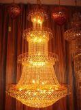 欧式金色大吊灯酒店大堂水晶吊灯别墅复试楼客厅楼中楼长吊灯