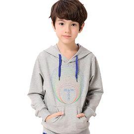 乐背尔童装春装卫衣2016韩版新款儿童运动卫衣长袖连帽纯棉男童卫衣外套
