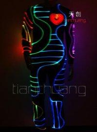 舞台演出LED发光服湖南未来创意光纤发光服