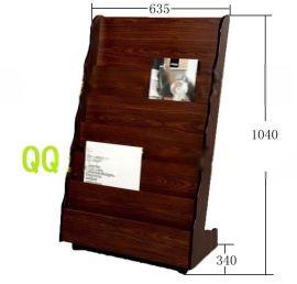 新款创意资料架期刊架直销足疗店单页架**木质展示架