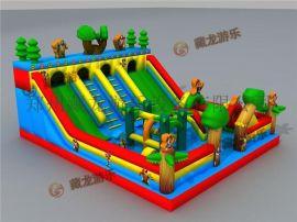 儿童玩具充气城堡厂家,充气跳跳床,公园蹦床玩具熊出没充气乐园