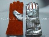 14''铝箔耐高温防辐射电焊手套
