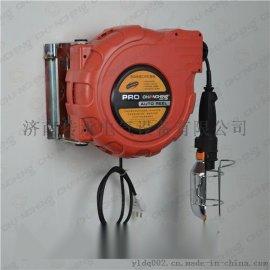 插座自动收缩卷轴、自动收缩工作灯卷轴