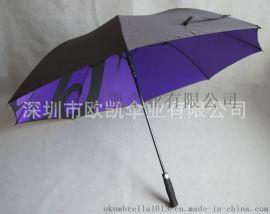 欧凯伞业 订做 30寸**大自动真双层高尔夫伞 全纤维高尔夫伞