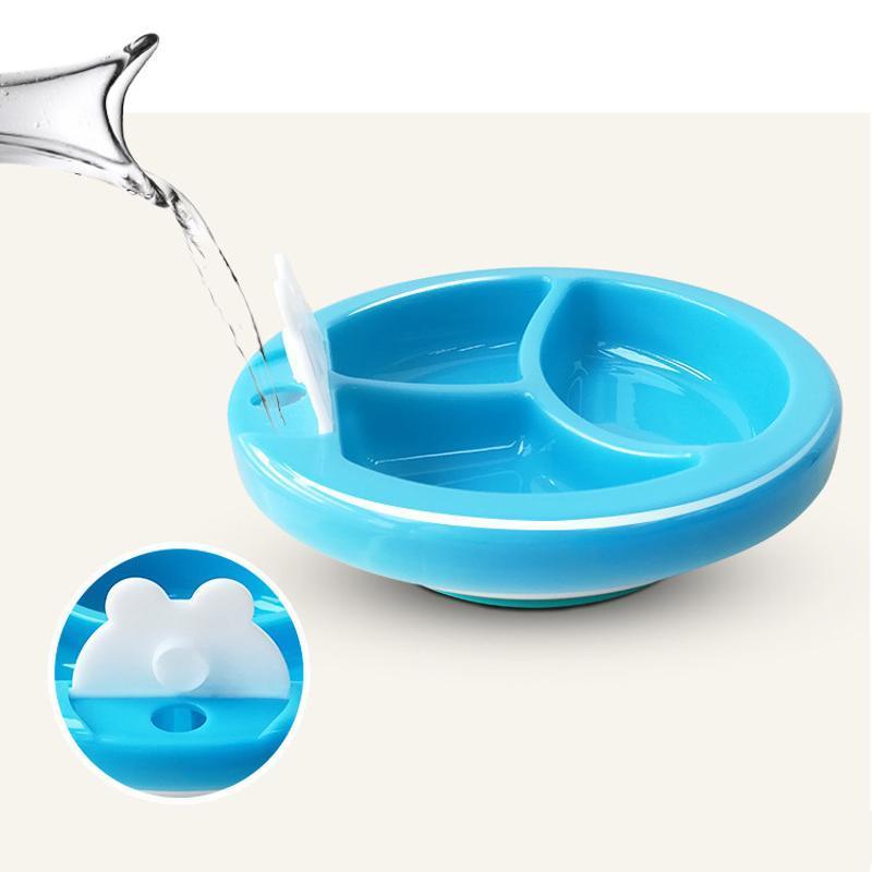 PP注水保溫碗 吸盤碗感溫變色碗   食具