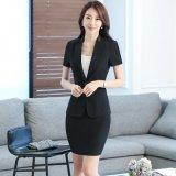 供应夏装短袖修身职业装套裙女士西装OL白领套装工作服黑色