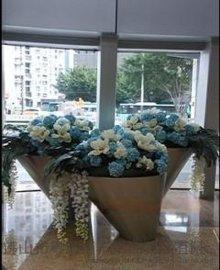 供应不锈钢大花盆 组合式不锈钢大花器 花钵 花箱