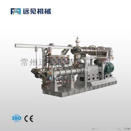 远见机械供应漂浮饲料膨化机 双螺杆膨化设备