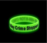 廠家定製夜光凸刻矽膠手環手圈工廠批發凸字橡膠手腕帶手鐲帶驅蚊