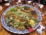 分格青花陶瓷大盘子 酒店专用海鲜大盘定做