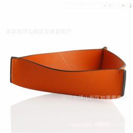 超纤皮合金三角形橙色橘色首饰盒皮革家居饰品样板房间软装摆台