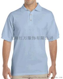 上海红万夏季纯色短袖POLO衫 T恤衫定制