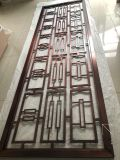 酒店地弹簧不锈钢红古铜玄关屏风镂空隔断