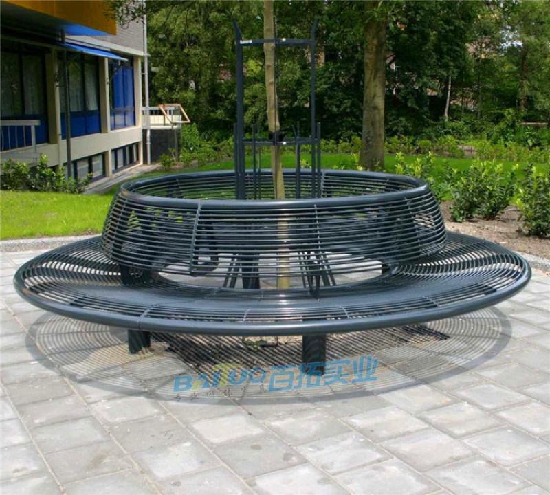 异弧形户外坐凳定制休闲座椅户外树池广场花池休息座椅