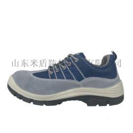 厂家供应代尔塔同款透气防臭劳保鞋反绒牛皮耐磨