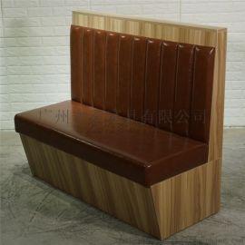 2018新款卡座沙发,木纹板式茶餐厅卡位定做