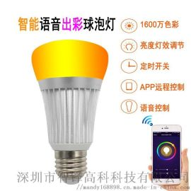 RGB智慧情景球泡燈/自由調光調色亮度調節/對接亞馬遜ALEXA語音控制