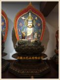 温州铜雕西方三圣厂家,铜雕佛像,正圆铸铜佛像厂家