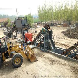 链斗洗砂机 破碎水洗砂机械 挖斗式洗砂生产线