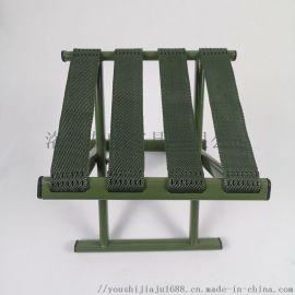 洛阳友时折叠 绿色马扎户外折叠凳四带马扎