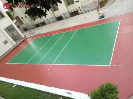 益阳公园塑胶篮球场施工 学校健身羽毛球场地胶铺装