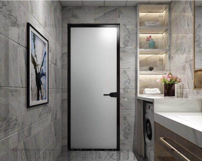 16窄边框平开门/极简卫浴门/铝材壁厚2.0mm
