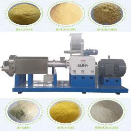 新型PHJ75双螺杆玉米大豆膨化机 貂狐饲料膨化机
