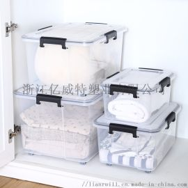 户外大加厚塑料透明收纳整理箱家用储物箱有盖