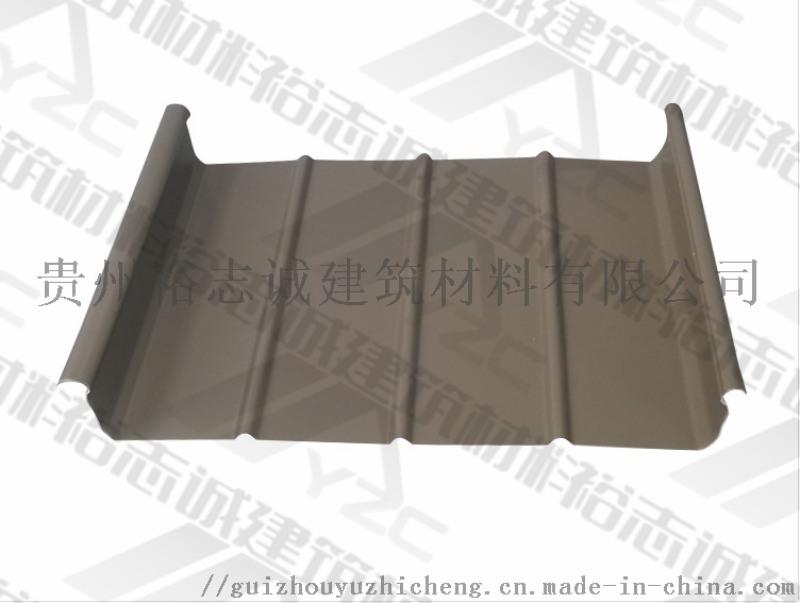 供应贵州铝镁锰板直立锁边屋面系统65-430厂家