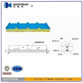 【岩棉夹芯板厂家】岩棉夹芯板生产厂家制造工艺_岩棉夹芯板价格|规格