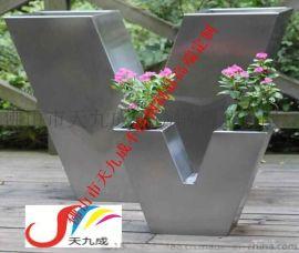 组合式不锈钢花盆,天九成花器加工,浙江山东金属花器定制