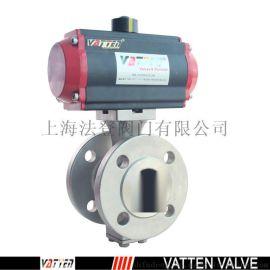 上海**的不锈钢VT2IDF33AT气动V型球阀