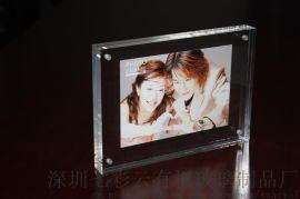 七彩云有机玻璃磁铁相框餐牌展示架桌面相架
