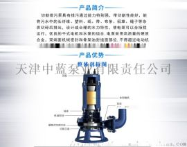 切割式污水泵 农村沼气池抽水 潜水排污泵推荐厂家