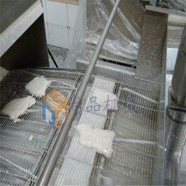 鸡排自动化裹浆机@鸡排裹浆油炸生产线