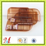 茶色高级定制 圆形方形月饼盒包装 厂家MXYBH102