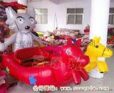 四川廣安市兒童四輪氣模車價格  廣場充氣電瓶車雙車