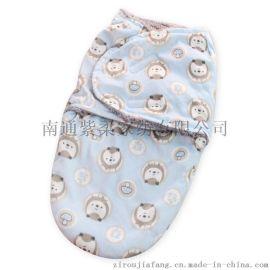 紫柔现货批发双层短毛绒抱被婴儿睡袋 新生儿襁褓毯子童毯 超柔软睡袋