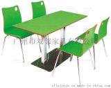 广州双邻厂家供应弯曲木桌椅组合 美食广场餐桌椅